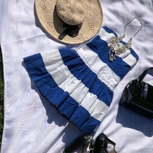 Abercrombie & Firch blue and white stripped dress